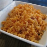 Tapa de arroz con chorizo