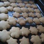 Bandeja de galletas horneadas