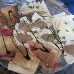 La Traviesa, brunch:  bandeja de salados