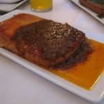 Queso frito con salsa de chorizo de Teror