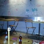 Interior de Pizza al Cuadrado