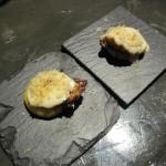 Pulpo con crema de queso de cabra