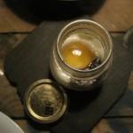 Potito abierto (patata, huevo y trufa)