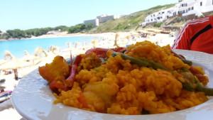 Paella de marisco y pescado
