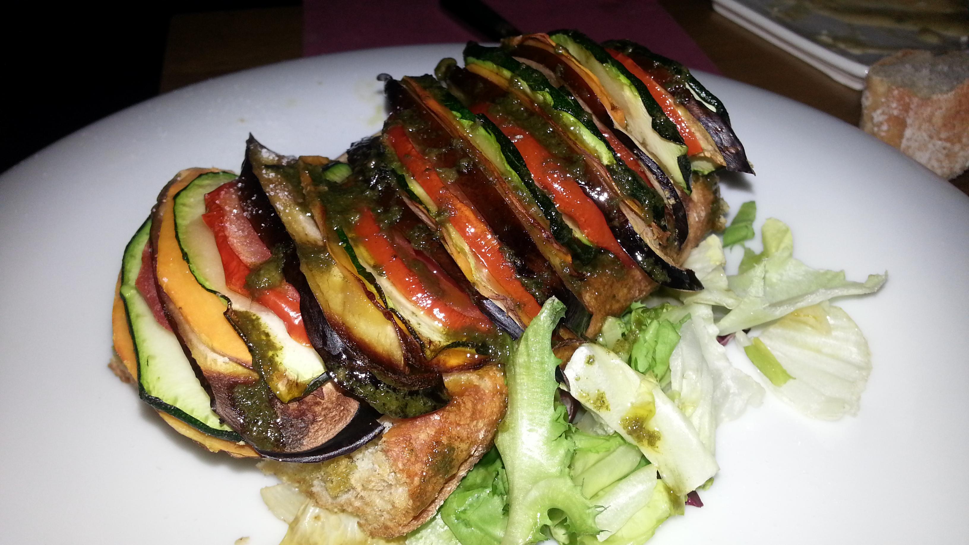 Panini de verduras en Juan Raro