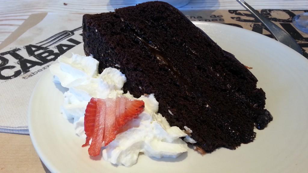Tarta de chocolate. Sota Caballo Rey