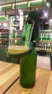 Botella de Sidra Cortina con escanciador. La Bobia