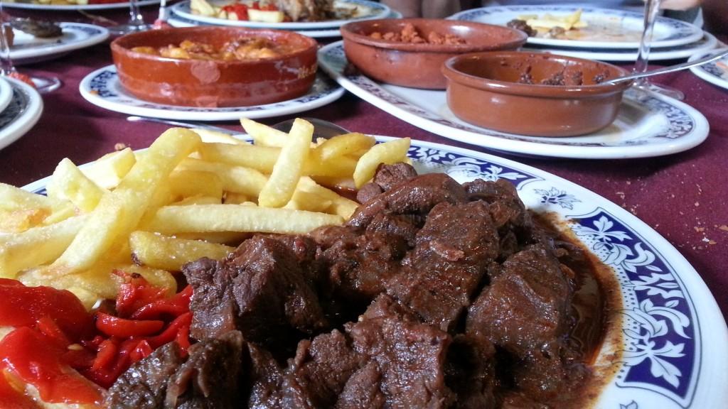 Venado y platos del menú degustación, El Venado