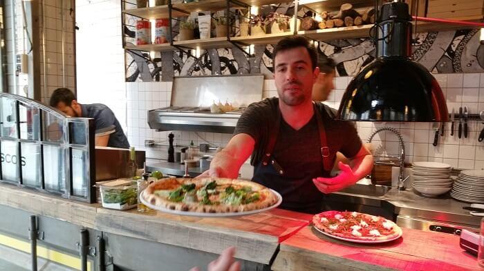 Francesco's. Pizza en el Mercado de San Ildefonso, Madrid