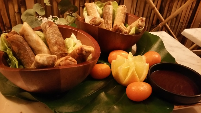 Rollitos de pato crujientes de Sushita Café