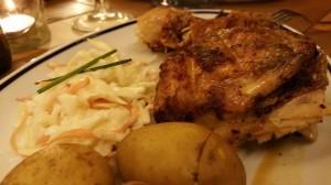 Pollo peruano. Le Coq
