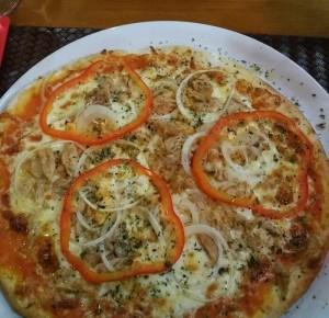 Pizza de atún, Trattoria Romana, Oporto Portugal