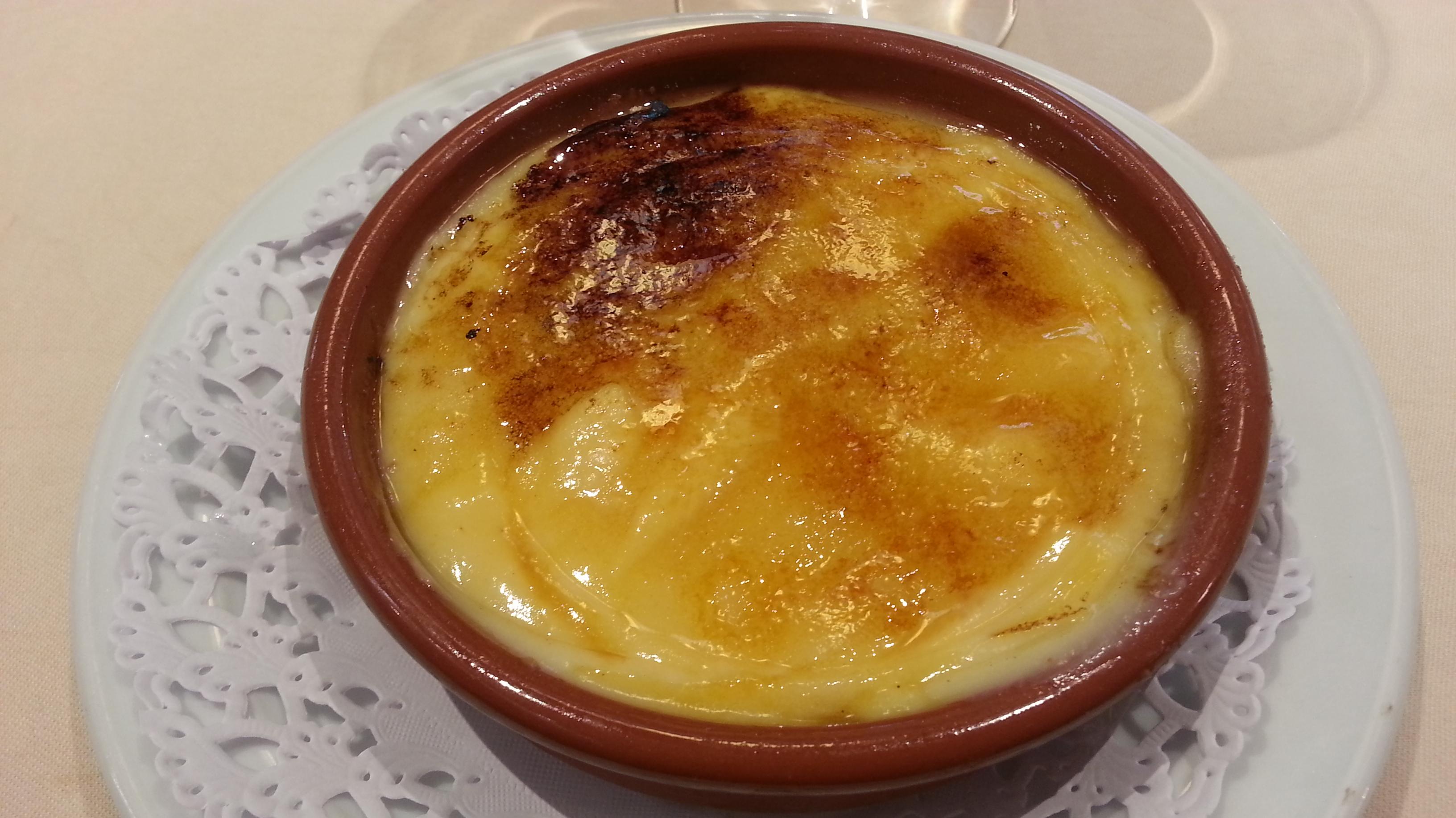 Crema catalana espectacular de Salamanca