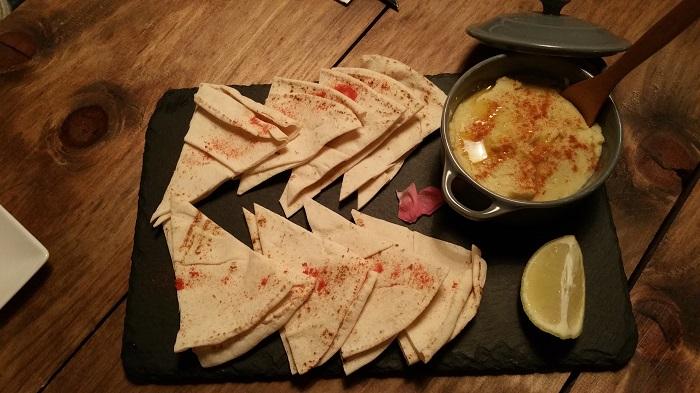 Hummus. Restuarante Tapioca, Madrid