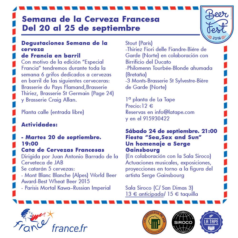 Beerfest en La Tape cartel 2016